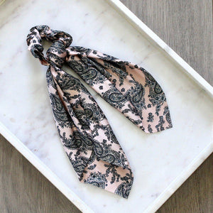 HAIR TIE SCARF SCRUNCHIE -Paisley - pretty-simple-2