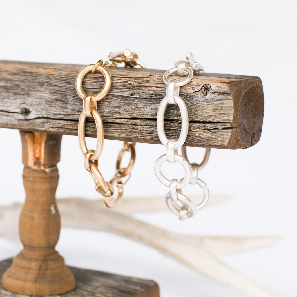 Chunky Chain Link Bracelet-Wholesale-Pretty-Simple