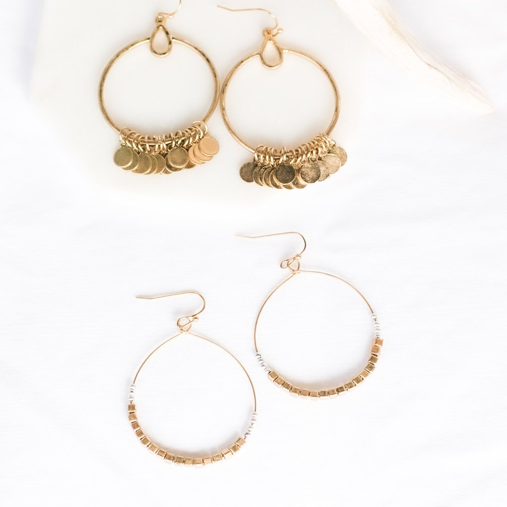 Eccentric Drop Hoops-Wholesale-Pretty-Simple