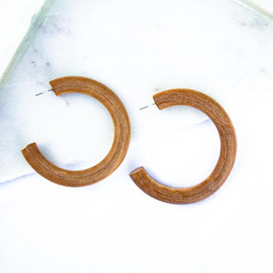 Whitney Hoops-Wholesale-Brown-Pretty-Simple