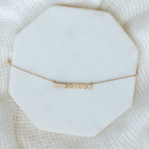 Sisters Necklace-Wholesale-Gold-Pretty-Simple