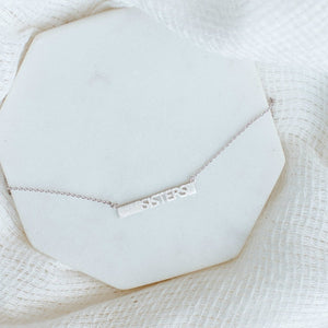Sisters Necklace-Wholesale-Silver-Pretty-Simple
