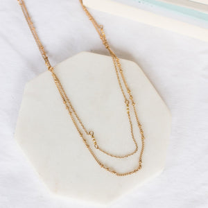 Delicate Delilah Layered Necklace-Wholesale-Gold-Pretty-Simple