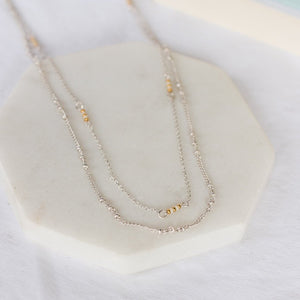 Delicate Delilah Layered Necklace-Wholesale-Silver-Pretty-Simple