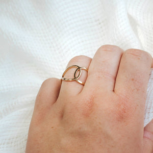 Double O Adjustable Ring-Wholesale-Pretty-Simple