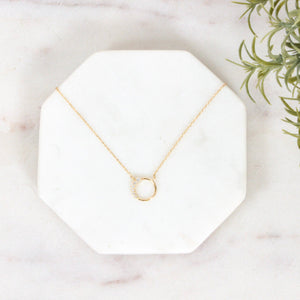 Colbie Crystal Circle Necklace