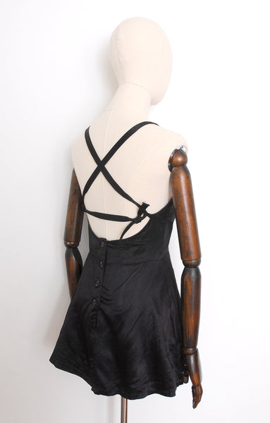 1930s Strappy Satin Swimsuit