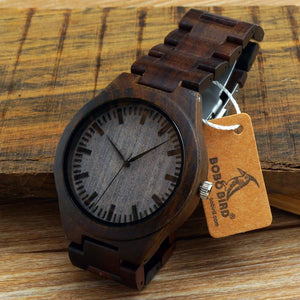 Personalized Wooden Watch for Men Dad Husband Son Custom Wood Engraved Leather Strap Wristwatch Boyfriend Groomsmen Gift Father's Day Birthday Anniversary Wedding Christmas-Watch Outfitters