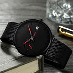 Load image into Gallery viewer, Date Ultra Thin Dial Quartz Men Casual Watch