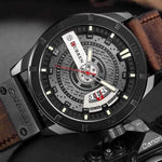 Load image into Gallery viewer, Men Quartz-Analog Watches Military Sport Black Wristwatch Leather Band-Watch Outfitters