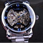 Load image into Gallery viewer, Men Skeleton Mechanical Watch Blue Crystal Fashion Design