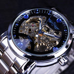 Load image into Gallery viewer, Top Winner Brand Luxury Automatic Watch Blue Ocean Fashion Casual Designer Stainless Steel Men Skeleton Watch Mens Watches-Watch Outfitters