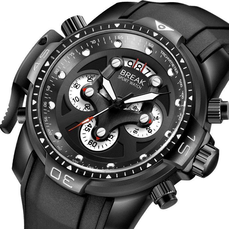 BREAK Chronograph Army Waterproof Men's Quartz Watches, Unique Fashion and Sport Watches-Watch Outfitters