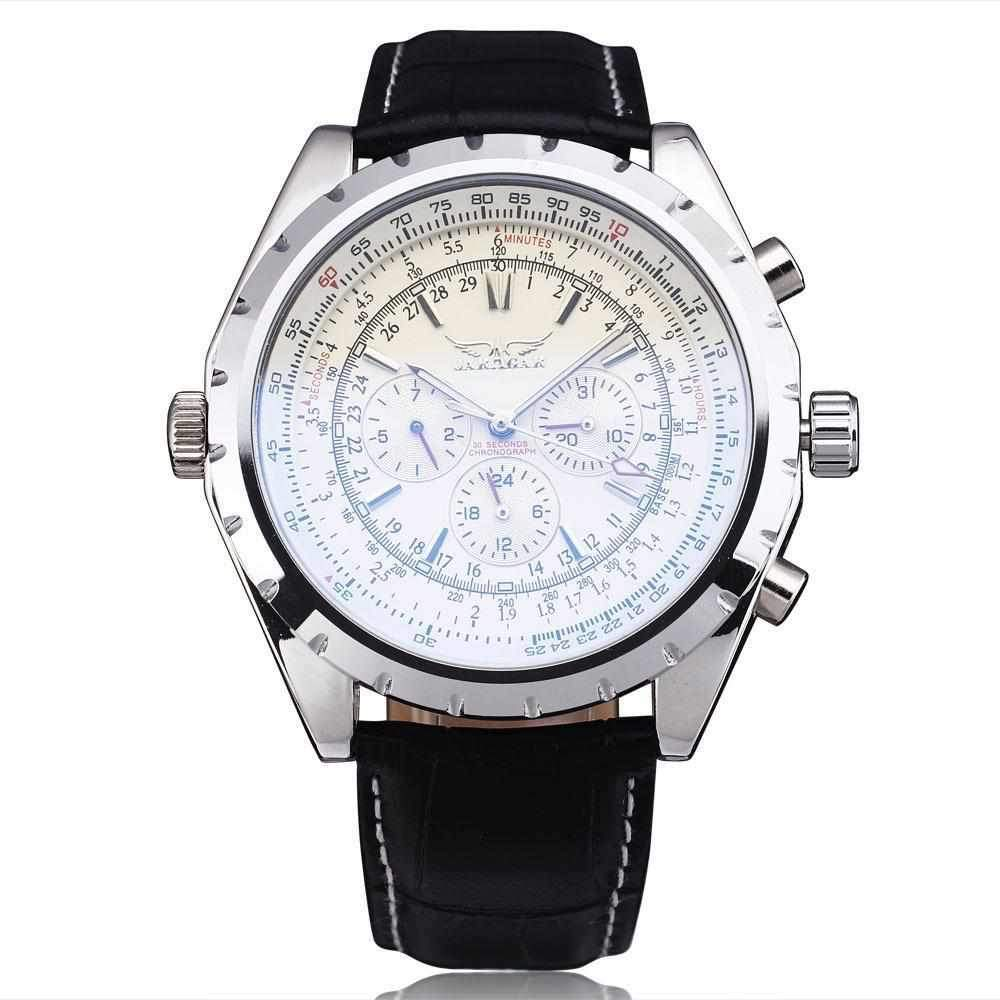 Gute Classic Mens Pro Automatic Mechanical Wristwatch Black Dial Day&Date Luminous Hands-Watch Outfitters