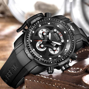 Luxury Brand Rubber Sport Mens Watches Fashion Waterproof Shockproof Quartz Watch Clock Men Relogio Masculino-Watch Outfitters