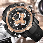 Load image into Gallery viewer, Luxury Brand Rubber Sport Mens Watches Fashion Waterproof Shockproof Quartz Watch Clock Men Relogio Masculino-Watch Outfitters