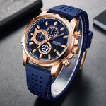 Load image into Gallery viewer, Mens Watches Top Brand Luxury MEGIR Silicone Military Sport Watch Chronograph Stopwatch Relogio Masculino Reloj Hombre Clock Men