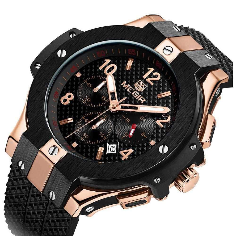 MONTRE HOMME GRAND CADRAN SPORT OR ROSE WATCH-Watch Outfitters