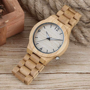 UNISTAR Unique Design Luxury Nature Bamboo Wooden Quartz Watches With Wood Band Best Father's Day Gift Fashion Men Women Watches-Watch Outfitters