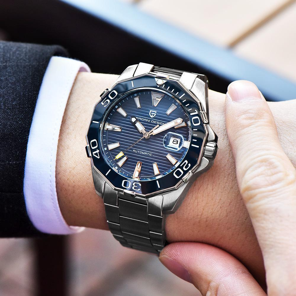 Top Men's Diving Automatic Mechanical Watches Waterproof Stainless steel Brand Luxury Fashion Business Watch Men-Watch Outfitters