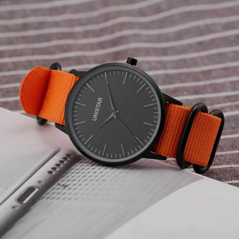 UNISTAR Luxury Men Women Waterproof Watch Ultra Thin Quartz Clock Hot Fashion Casual Charm Sport Men Women Wristwatch-Watch Outfitters