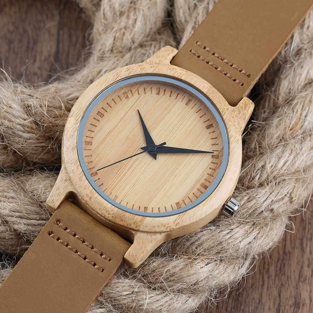 Wood Watch Fashion Simple Style Dial Outdoor Casual Watches zebra-Watch Outfitters