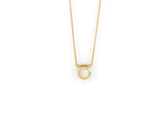 COLLIER SITA - OR JAUNE 14K - OPALE
