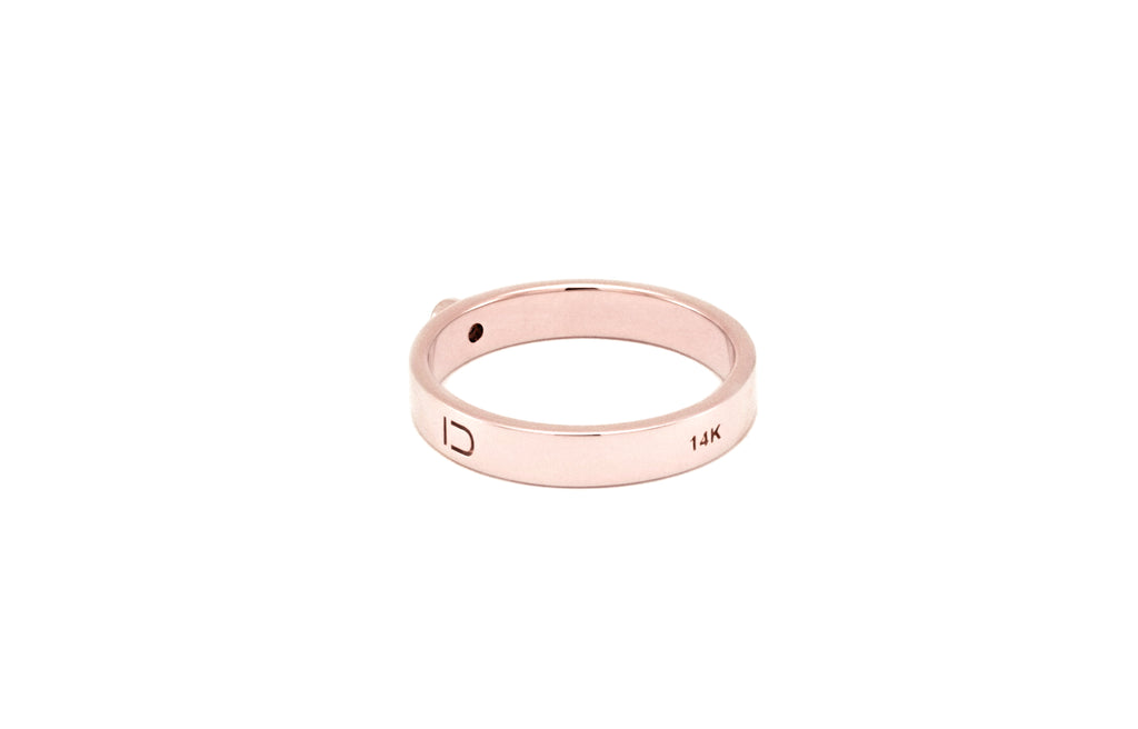 BAGUE OR ROSE 14K - DIAMANT 2MM - LISA