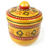 Hand-painted Sugar Bowl in Red Handmade and Fair Trade