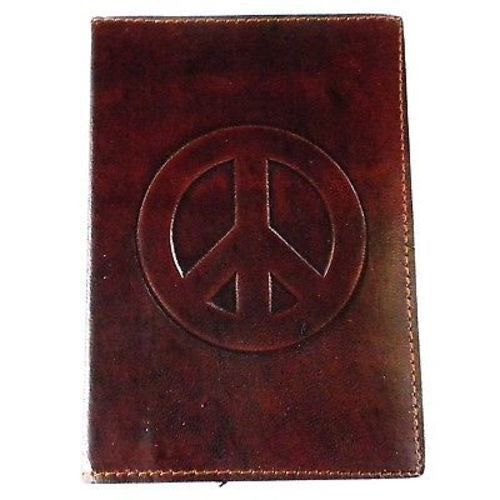 "Peace"" Embossed Leather Journal Handmade and Fair Trade"