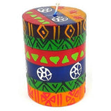 Single Boxed Hand-Painted Pillar Candle - Shahida Design Handmade and Fair Trade