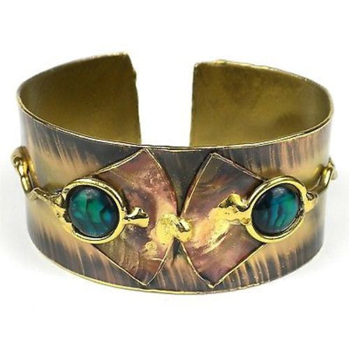 Paua Ocean Cuff Handmade and Fair Trade