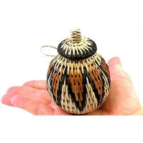 Small Zulu Herb Basket #1 Handmade and Fair Trade