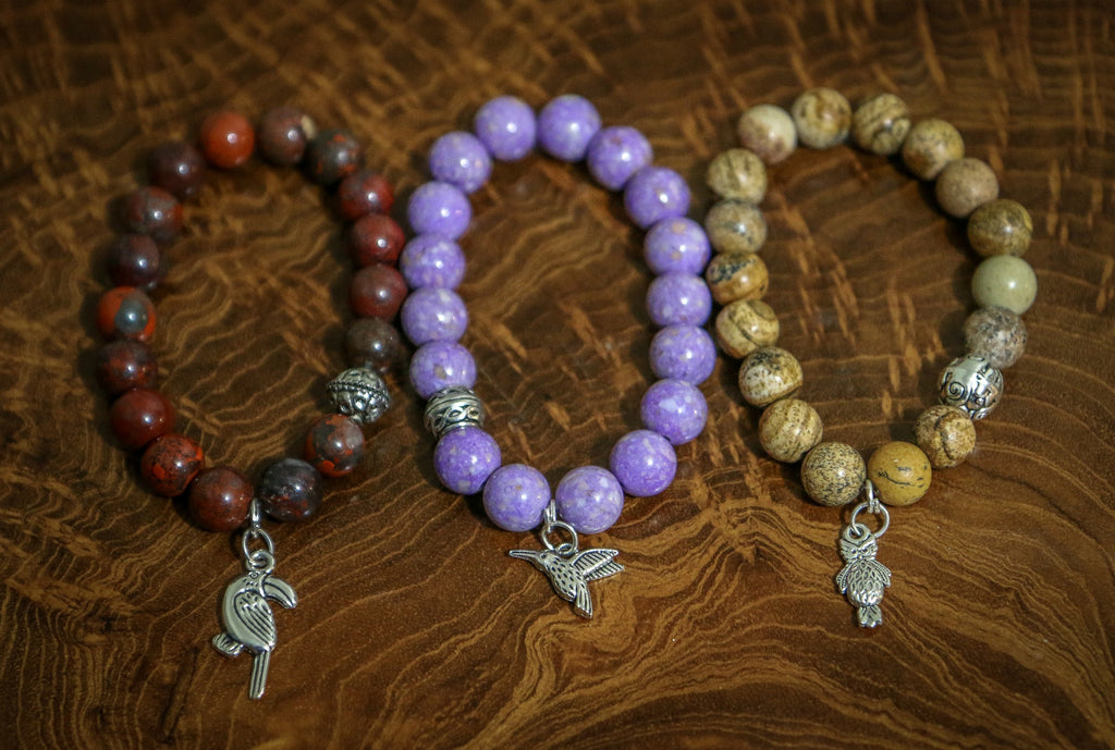 Birdwatcher Collection on wood - Bracelets that Give Back
