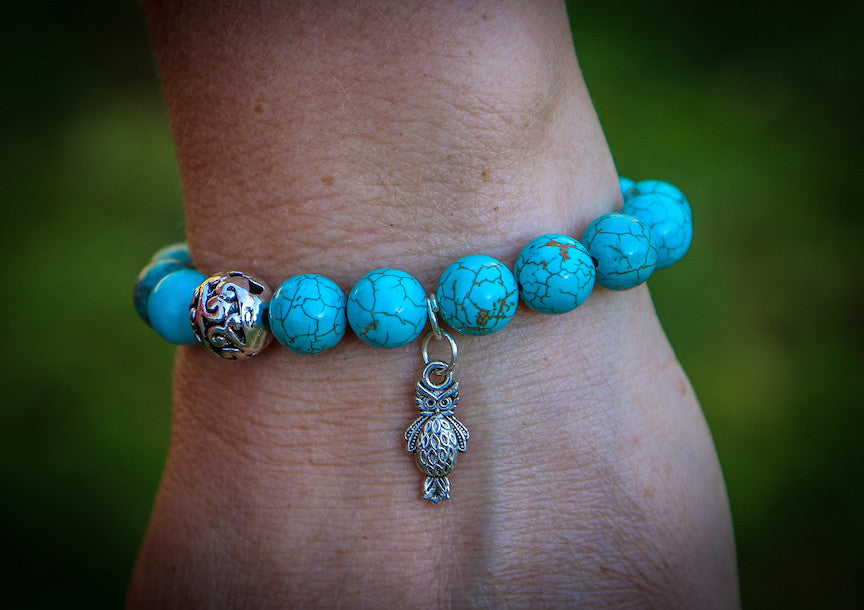 Owl Bracelet (Blue) by Green Global Travel