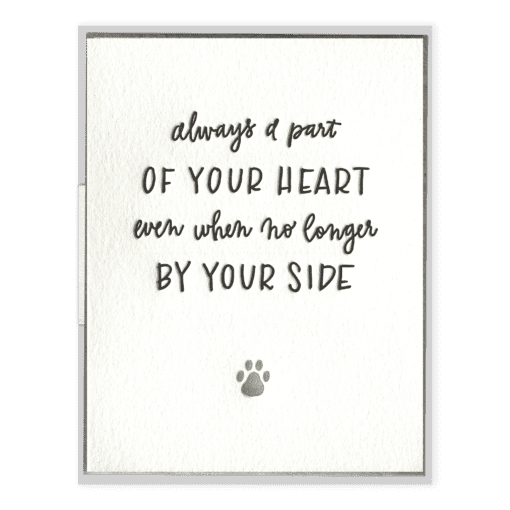 Always A Part of Your Heart | Letterpress Card