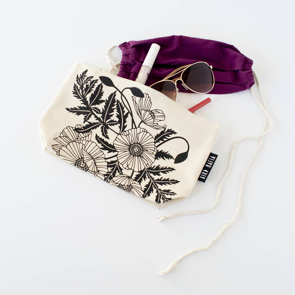 Poppies Cosmetic Pouch • Bird Mafia