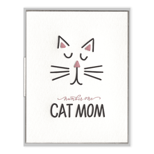 Number One Cat Mom | Letterpress Card