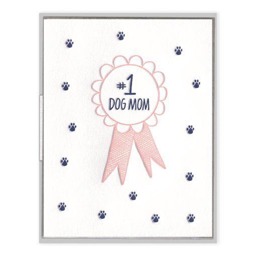 #1 Dog Mom | Letterpress Card