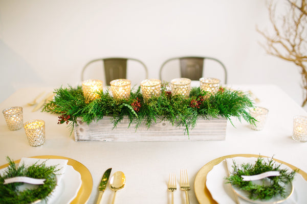 Winter Greens Votive | Centerpiece