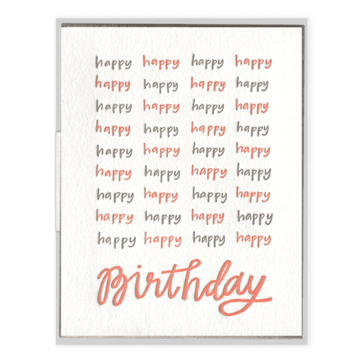 Happy Happy Birthday | Letterpress Card