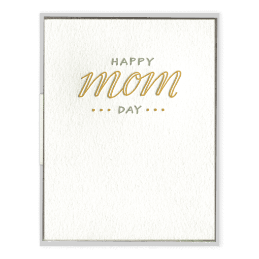 Happy Mom Day | Letterpress Card