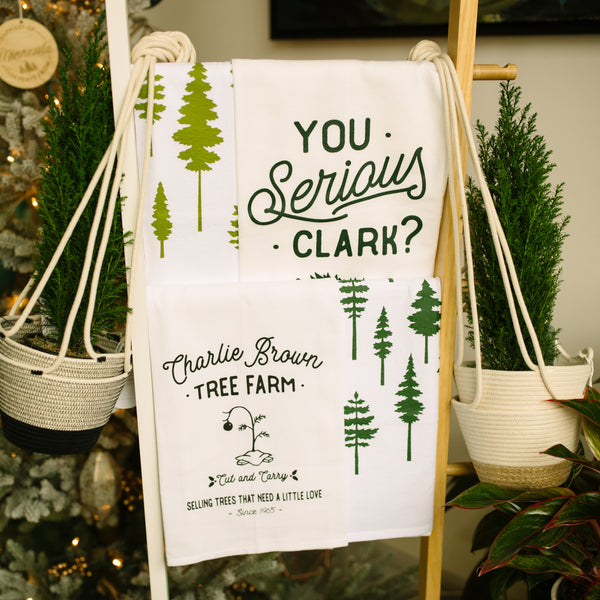 Charlie Brown Tree Farm Flour Sack Towel • Kitch Studios
