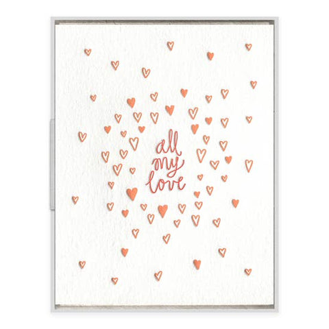 All My Love | Letterpress Card