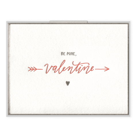 Be Mine Valentine | Letterpress Card