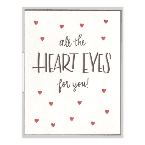 Heart Eyes | Letterpress Card