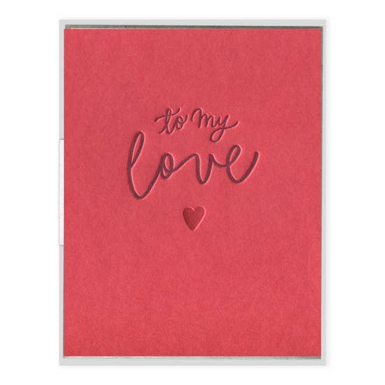 To My Love | Letterpress Card