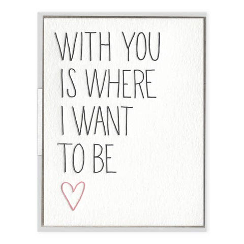 With You | Letterpress Card