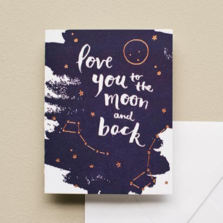 To the Moon and Back | Letterpress Card