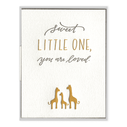 Sweet Little One | Letterpress Card